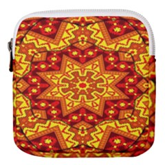 Kaleidoscope Mandala Recreation Mini Square Pouch by Simbadda