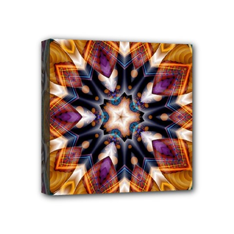 Kaleidoscope Pattern Kaleydograf Mini Canvas 4  X 4  (stretched)