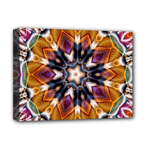 Kaleidoscope Pattern Kaleydograf Deluxe Canvas 16  X 12  (stretched)  by Simbadda