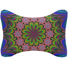 Floral Fractal Star Render Seat Head Rest Cushion