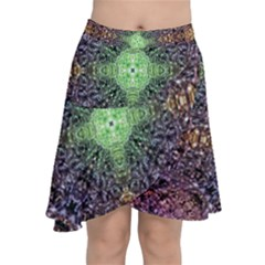Mandala Carpet Pattern Geometry Chiffon Wrap Front Skirt