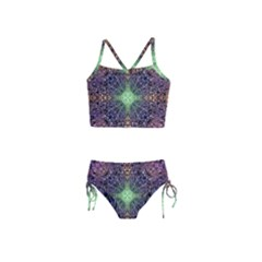 Mandala Carpet Pattern Geometry Girls  Tankini Swimsuit