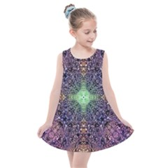 Mandala Carpet Pattern Geometry Kids  Summer Dress by Simbadda