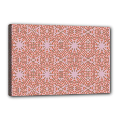 Vintage Abstract Background Mandala Canvas 18  X 12  (stretched)
