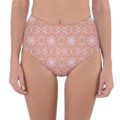 Vintage Abstract Background Mandala Reversible High Waist Bikini Bottoms
