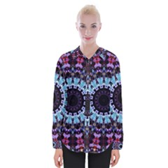 Kaleidoscope Shape Abstract Design Womens Long Sleeve Shirt