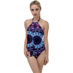 Kaleidoscope Shape Abstract Design Go With The Flow One Piece Swimsuit