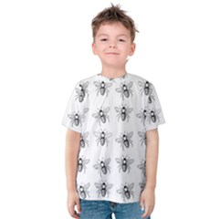Pop Art  Bee Pattern Kids  Cotton Tee