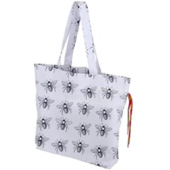 Pop Art  Bee Pattern Drawstring Tote Bag by Valentinaart