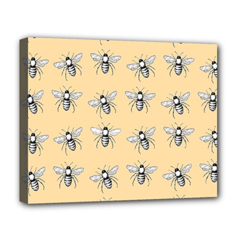 Pop Art  Bee Pattern Deluxe Canvas 20  X 16  (stretched) by Valentinaart