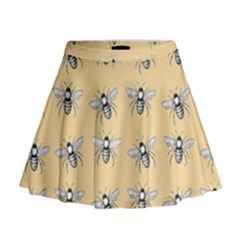 Pop Art  Bee Pattern Mini Flare Skirt by Valentinaart