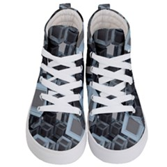 3d Cube Fantasy Square Shape Kid s Hi Top Skate Sneakers