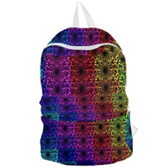 Rainbow Grid Form Abstract Foldable Lightweight Backpack