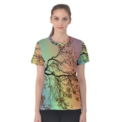 Rainbow Branch Boxer Shorts Women s Cotton Tee