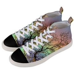 Rainbow Branch Boxer Shorts Men s Mid-top Canvas Sneakers by Simbadda