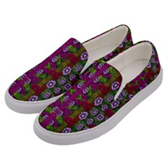Floral Climbing To The Sky For Ornate Decorative Happiness Men s Canvas Slip Ons by pepitasart