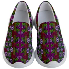 Floral Climbing To The Sky For Ornate Decorative Happiness Kid s Lightweight Slip Ons by pepitasart