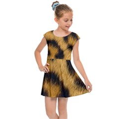 Animal Print Leopard Kids Cap Sleeve Dress by NSGLOBALDESIGNS2