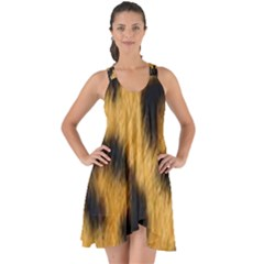 Animal Print Leopard Show Some Back Chiffon Dress by NSGLOBALDESIGNS2