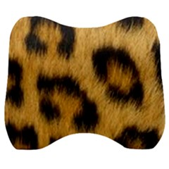 Animal Print Leopard Velour Head Support Cushion by NSGLOBALDESIGNS2