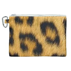 Animal Print Leopard Canvas Cosmetic Bag (xl) by NSGLOBALDESIGNS2