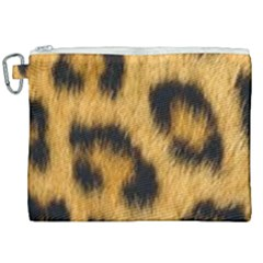 Animal Print Leopard Canvas Cosmetic Bag (xxl) by NSGLOBALDESIGNS2