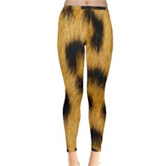 Animal Print Leopard Inside Out Leggings by NSGLOBALDESIGNS2