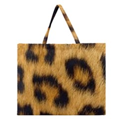 Animal Print Leopard Zipper Large Tote Bag by NSGLOBALDESIGNS2