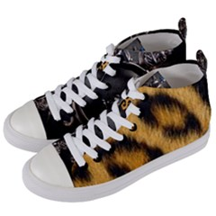 Animal Print Women s Mid-top Canvas Sneakers by NSGLOBALDESIGNS2