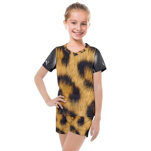 Animal Print Kids  Mesh Tee And Shorts Set by NSGLOBALDESIGNS2