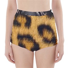 Animal Print 3 High Waisted Bikini Bottoms by NSGLOBALDESIGNS2