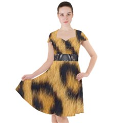 Animal Print 3 Cap Sleeve Midi Dress by NSGLOBALDESIGNS2