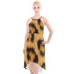 Animal Print 3 High-low Halter Chiffon Dress  by NSGLOBALDESIGNS2