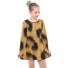 Animal Print 3 Kids  Long Sleeve Dress