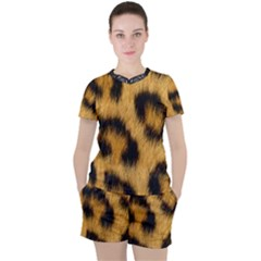 Animal Print 3 Women s Tee And Shorts Set