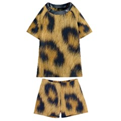 Animal Print 3 Kids  Swim Tee And Shorts Set by NSGLOBALDESIGNS2