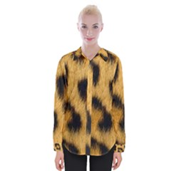 Leopard Print Womens Long Sleeve Shirt