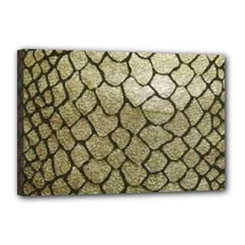 Snake Print Canvas 18  X 12  (stretched) by NSGLOBALDESIGNS2
