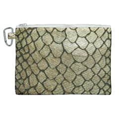 Snake Print Canvas Cosmetic Bag (xl) by NSGLOBALDESIGNS2