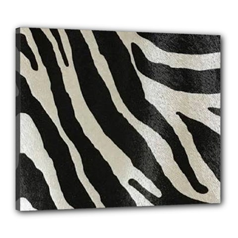 Zebra Print Canvas 24  X 20  (stretched) by NSGLOBALDESIGNS2