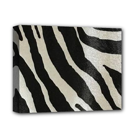 Zebra Print Deluxe Canvas 14  X 11  (stretched)