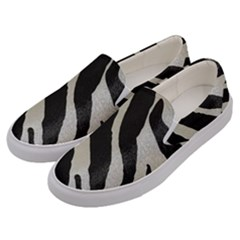 Zebra Print Men s Canvas Slip Ons by NSGLOBALDESIGNS2