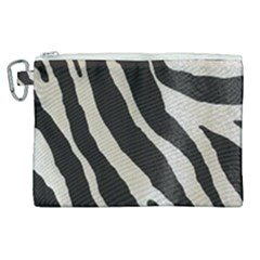 Zebra Print Canvas Cosmetic Bag (xl) by NSGLOBALDESIGNS2