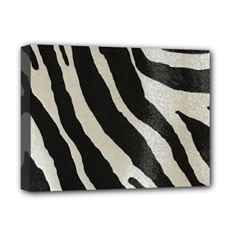 Zebra Print Deluxe Canvas 16  X 12  (stretched)