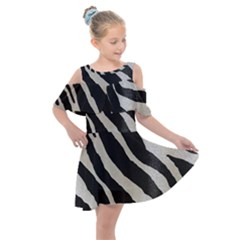 Zebra Print Kids  Shoulder Cutout Chiffon Dress by NSGLOBALDESIGNS2