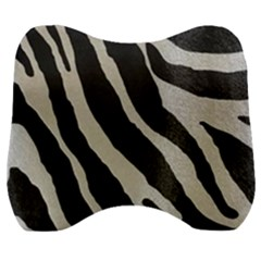 Zebra Print Velour Head Support Cushion by NSGLOBALDESIGNS2