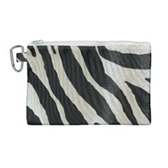 Zebra Print Canvas Cosmetic Bag (large) by NSGLOBALDESIGNS2