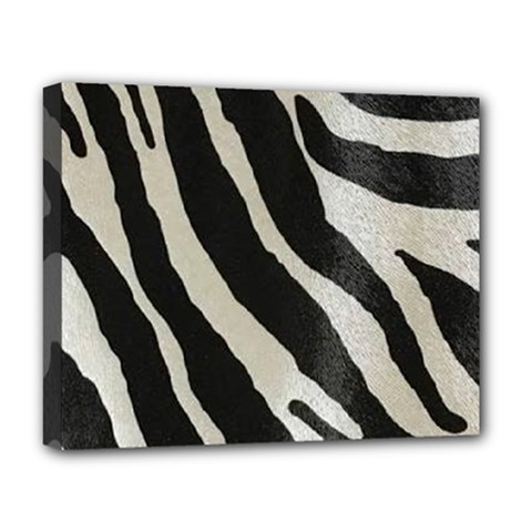 Zebra Print Deluxe Canvas 20  X 16  (stretched) by NSGLOBALDESIGNS2