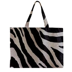 Zebra Print Zipper Mini Tote Bag by NSGLOBALDESIGNS2
