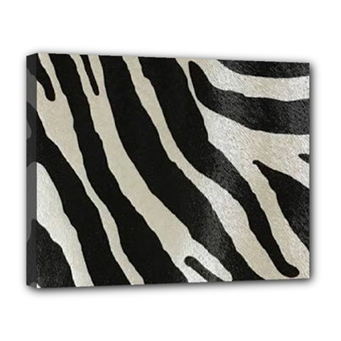Zebra Print Canvas 14  X 11  (stretched) by NSGLOBALDESIGNS2